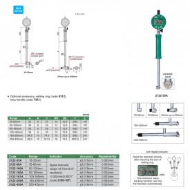 Ceas Comparator Digital INSIZE 35-60mm 0.002mm pentru Alezaje 2122-60A