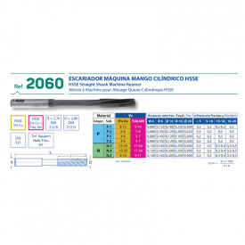 IZAR Alezor de Masina HSS 5%Co H7 7.7mm