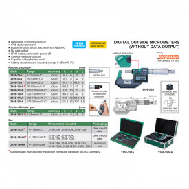 Micrometru Digital INSIZE 25-50mm 0.001mm IP65 3108-50A