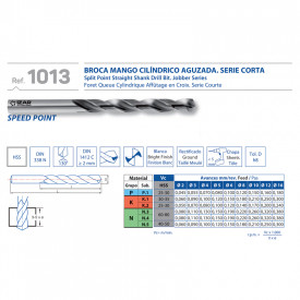 BURGHIU HSS SPLIT POINT 3.9 mm SET 10