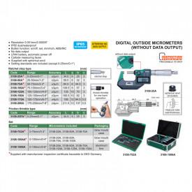 Micrometru Digital INSIZE 50-75mm 0.001mm IP65 3108-75A