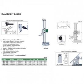 Subler cu Ceas INSIZE de Inaltime 0-300mm 0.01mm 1351-300