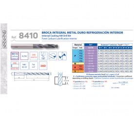 BURGHIU CARBURA CNC ALTIN 3xD RACIRE INTERNA 8.5 mm