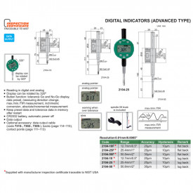 Ceas Comparator Digital INSIZE 50.8mm 0.01mm Avansat 2104-50F