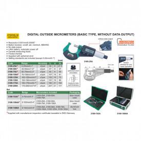Micrometru Digital INSIZE 75-100mm 0.001mm 3109-100A