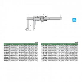 Subler Digital INSIZE 0-1500mm 0.01mm Extra Lung 1106-1503