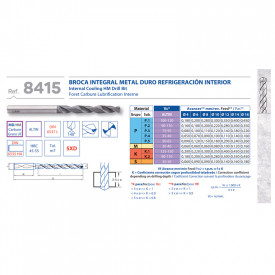 BURGHIU CARBURA CNC ALTIN 5xD RACIRE INTERNA 8.6 mm