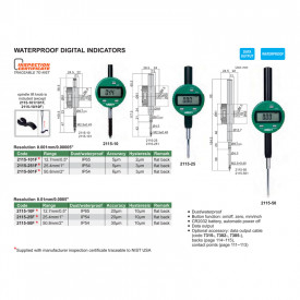 Ceas Comparator Digital INSIZE 50.8mm 0.001mm IP54 2115-501F