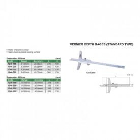 Subler Mecanic INSIZE de Adancime 0-150mm 0.05mm 1240-150