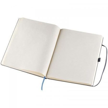 A4 notebook, lined, with strap