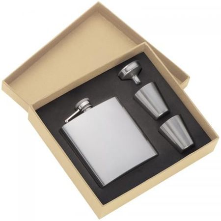 Hipflask set with 2 cups