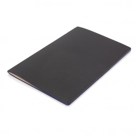 Softcover PU notebook with coloured edge