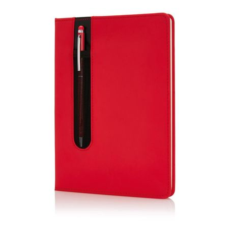 Standard hardcover PU A5 notebook with stylus pen