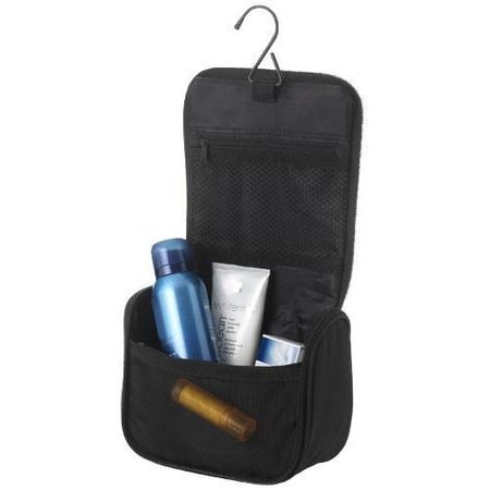 Suite compact toiletry bag with hook