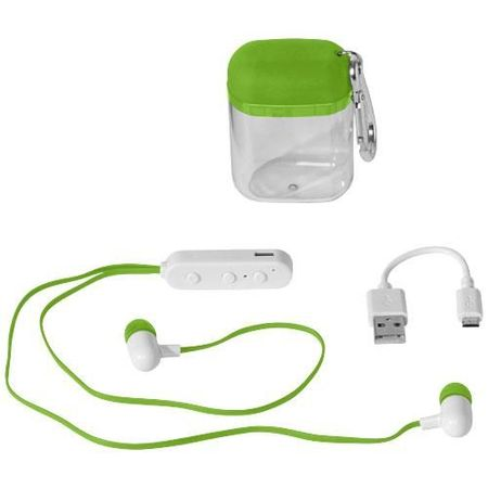 Budget Bluetooth® Earbuds in Carabiner Case