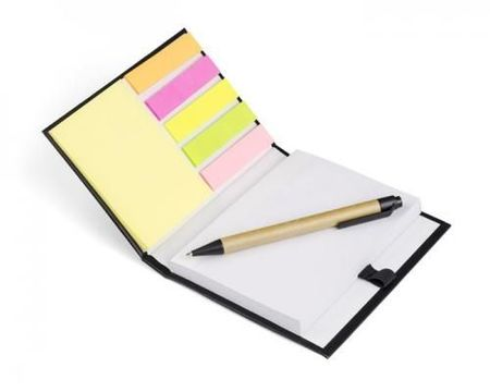 Notebook with pen NERO