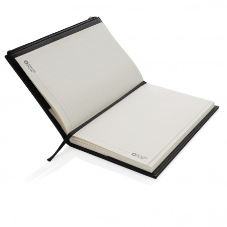 Swiss Peak A5 PU notebook with zipper pocket