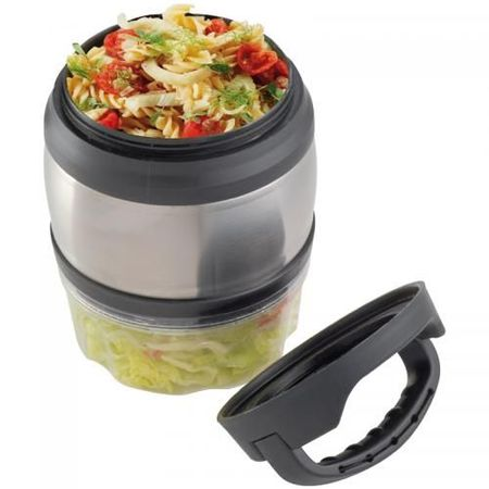Lunch box with carrying handle