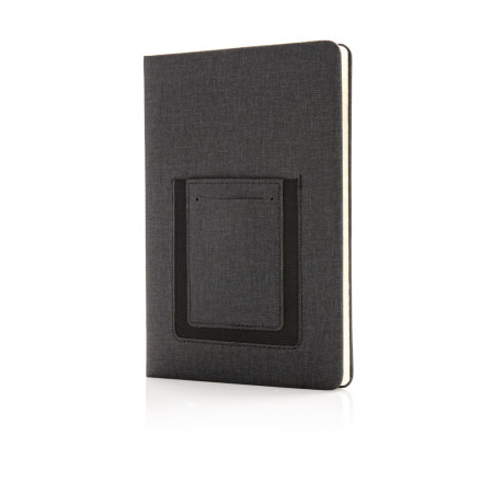 Deluxe A5 Notebook with phone pocket