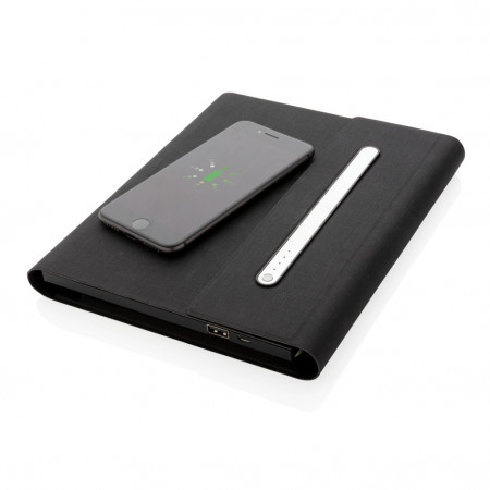 5.000 mAh power notebook A5 with wireless charging