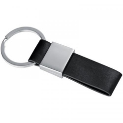 keyring with a black PU strap