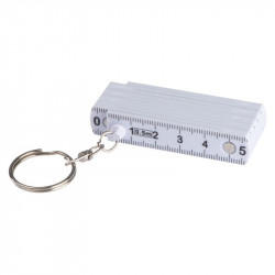 Keyring with ruler