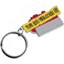 "Keyring ""You are welcome!!!\"""