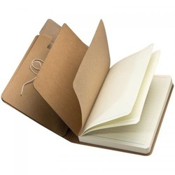 Notebook with brown rubberband