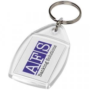 Rhombus P4 keychain with plastic clip