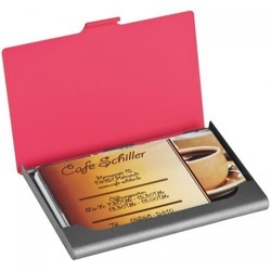 Rubberised business cardholder