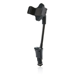 USB car charger with phone holder