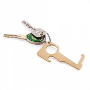 Brass hygienic zero contact keychain