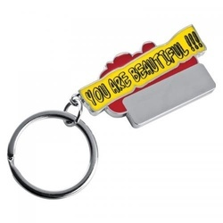 """Keyring \""""You are beautyful!!!\"""""""