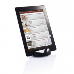 Chef tablet stand with touchpen