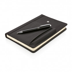 Refillable notebook and pen set