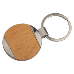 Metal-Wooden key ring Langhaus