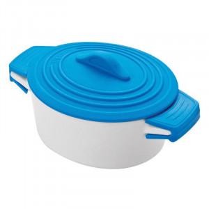 Porcelain pot with silicone lid DELHI