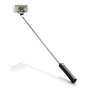 Selfie stick with wire