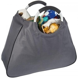 Shopping bag with alu handles