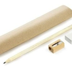 Writing set EKO (pencil, rubber, sharpener)