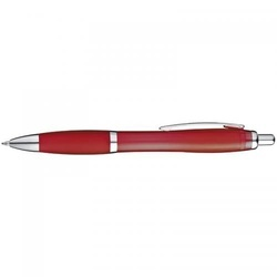 Ball pen with rubber grip