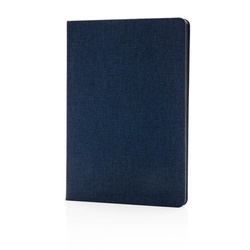 Deluxe fabric notebook with black side