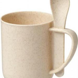 Rye 420 ml wheat straw mug with spoon