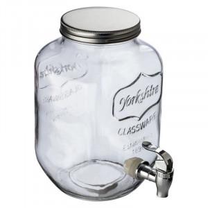 Set: drink dispenser & 4 drinking glasses Acapulco