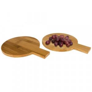 Ayden 2-piece bamboo amuse set in round shape