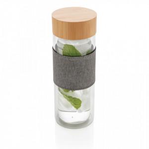 Impact double wall borosilicate glass bottle