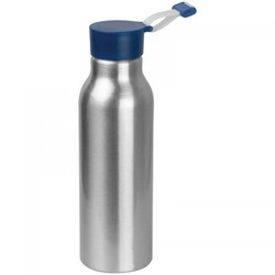 Metal bottle with silicone lid