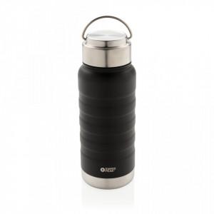 Swiss Peak Elite copper vacuum bottle with handle