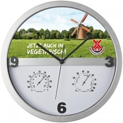 Wall clock, half display printable