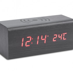 Desk clock with wireless charger CORNELL
